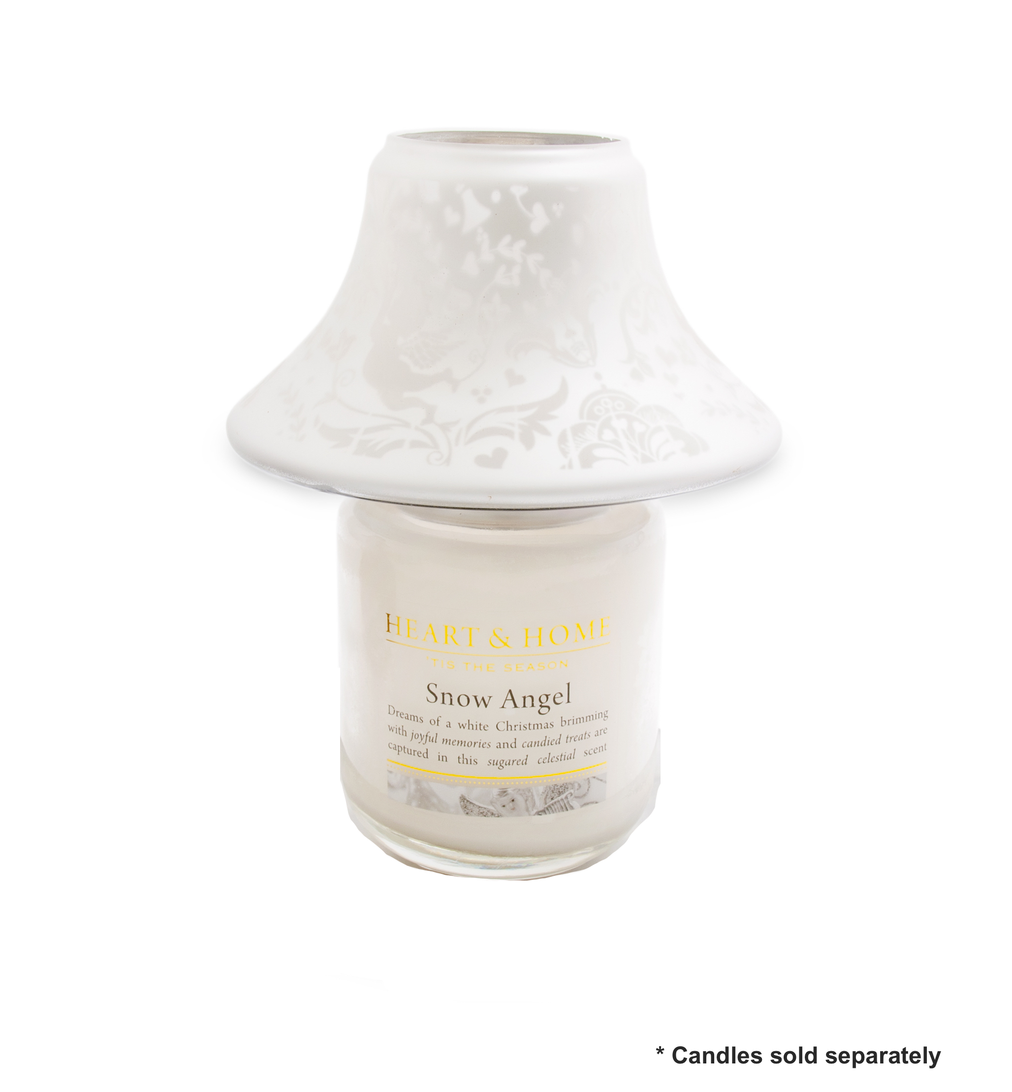 candle jar shade silver angels by heart and home