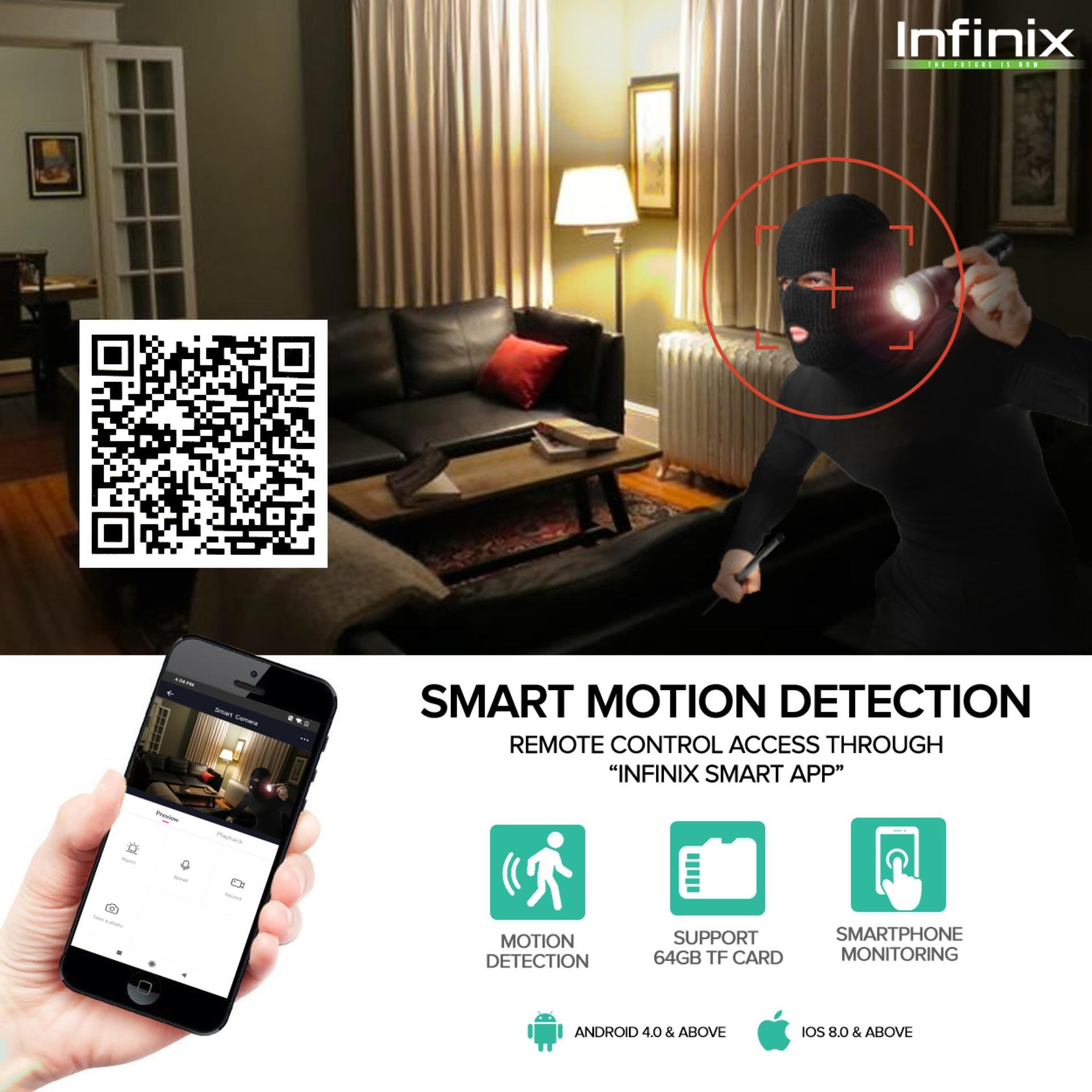 Infinix XCA01 720p WiFi IP with Motion Detection Smart Camera (White)