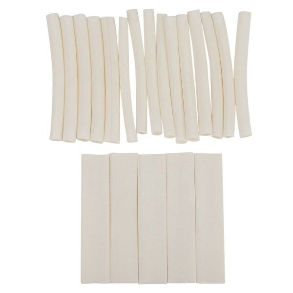 20Pcs White 3/4: 1 Heat Shrink Tubing Wrap Wire For iPhone For iPad For Android For Samsung Data Line Heatshrink Tubes