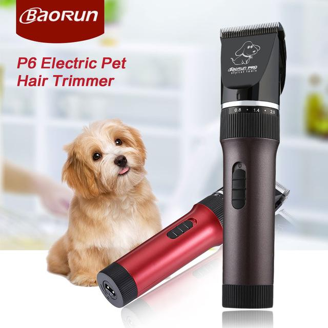 BaoRun P6 Professional Rechargeable Pet Electric Hair Clipper Cutter with  Grooming Kit (EU PLUG) 9fdf262269