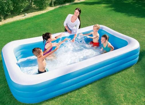 Yang-Free Inflator-Bestway 3l 54009 Deluxe Family Inflatable Pool 3.05*1.83*0.56m By Yang168..