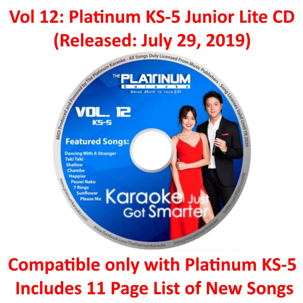 Volume 12 Update Disc for Platinum KS-5 Junior Lite (Released July 29 2019)