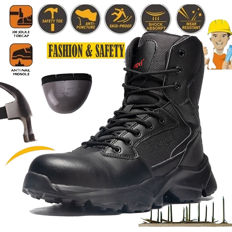 Steel Toe Spring Safety Shoes man