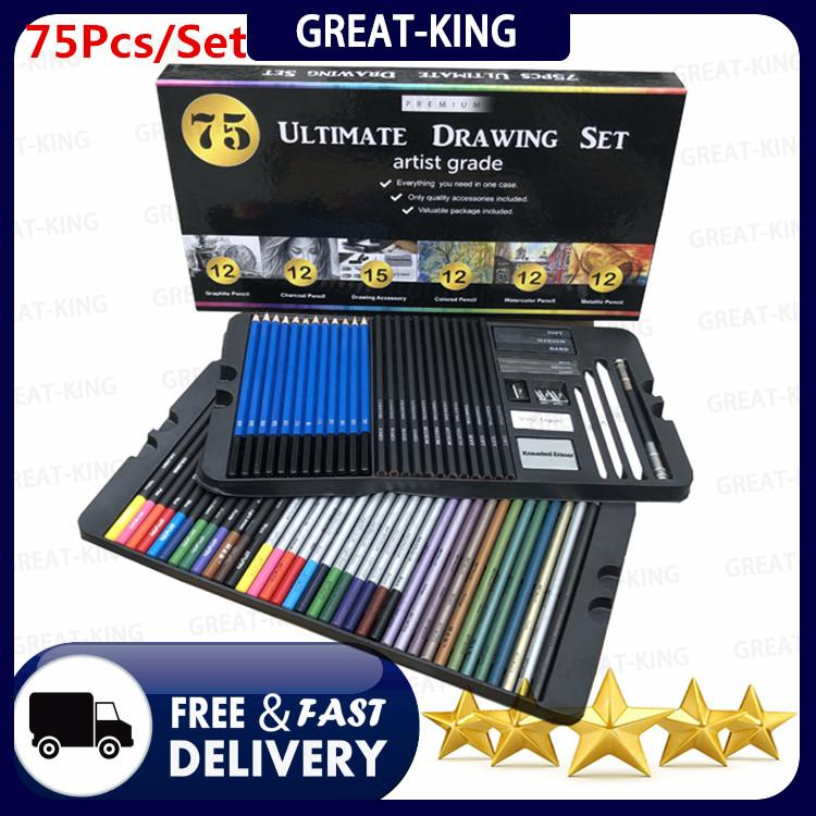 22Pcs Colouring Pencil Set Large Size For Kids Drawing,Artists,School,Stationery