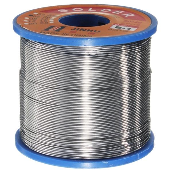 JINHU 400g 60/40 Tin lead Solder Flux Wire Rosin Core Soldering Roll, 0.8Mm