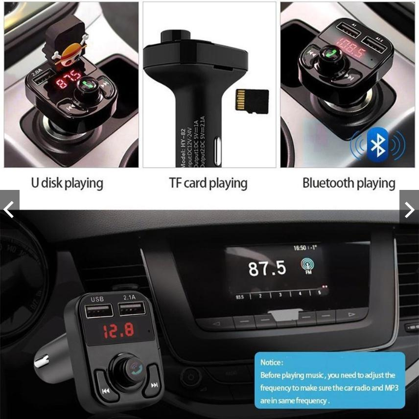 Car Kit Handsfree Wireless Bluetooth FM Transmitter LCD MP3 Player USB Charger, MP3 Audio Player