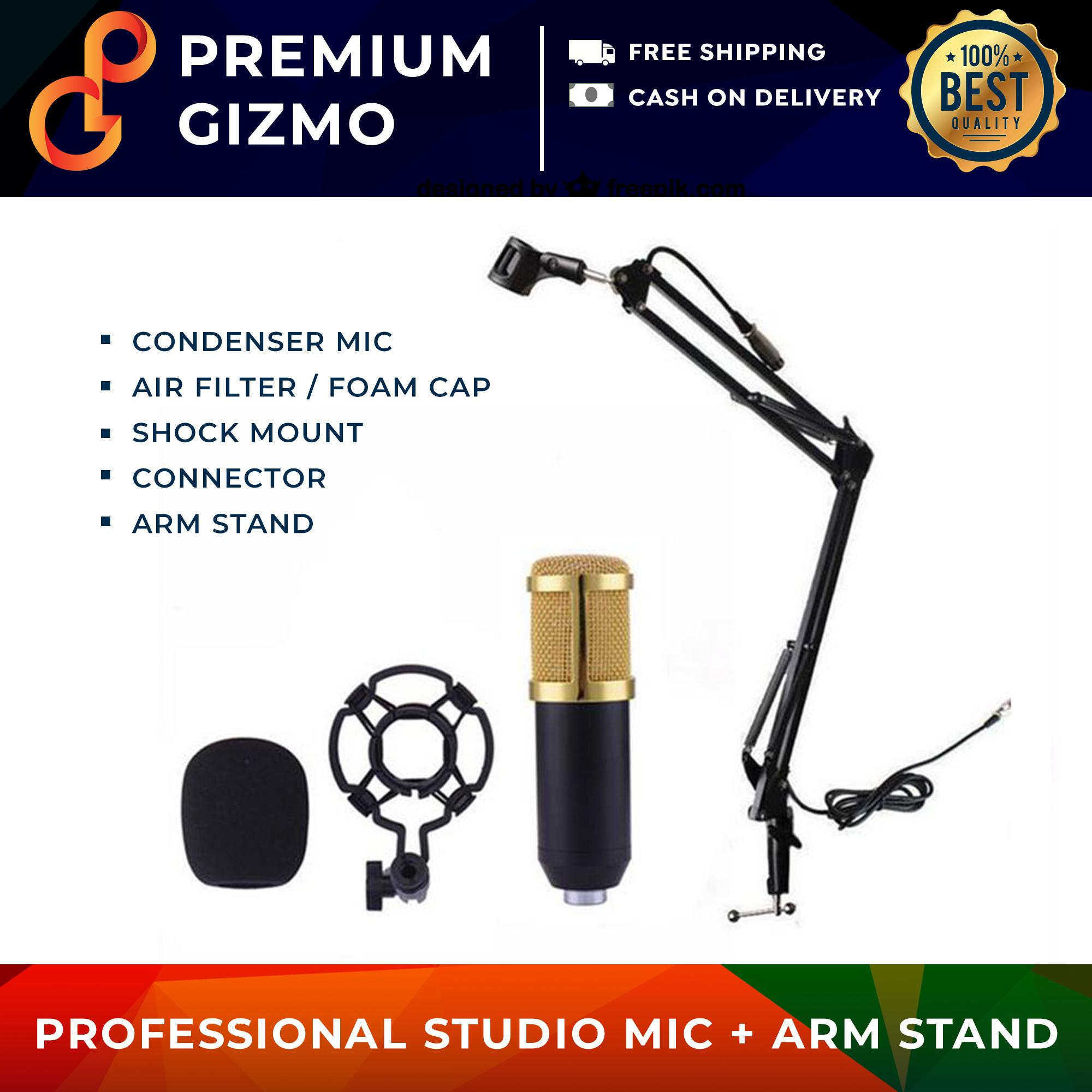 BM-800 Condenser Microphone with Arm Stand Professional PC Phone Mic bm800 bm 800 Voice