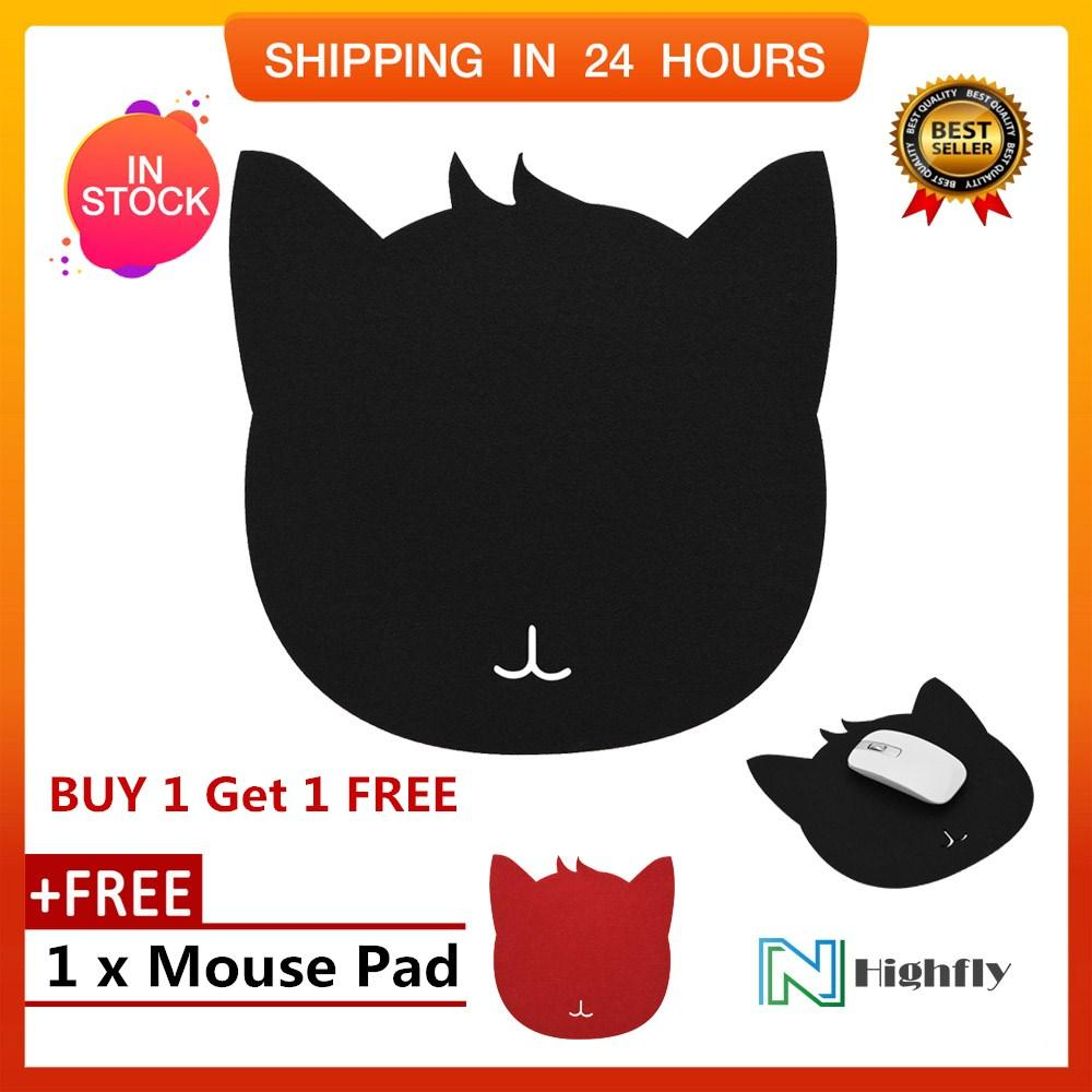 【Buy 1 Get 1 Free】Cat Shape Anti-static Felts Table Mouse Pad