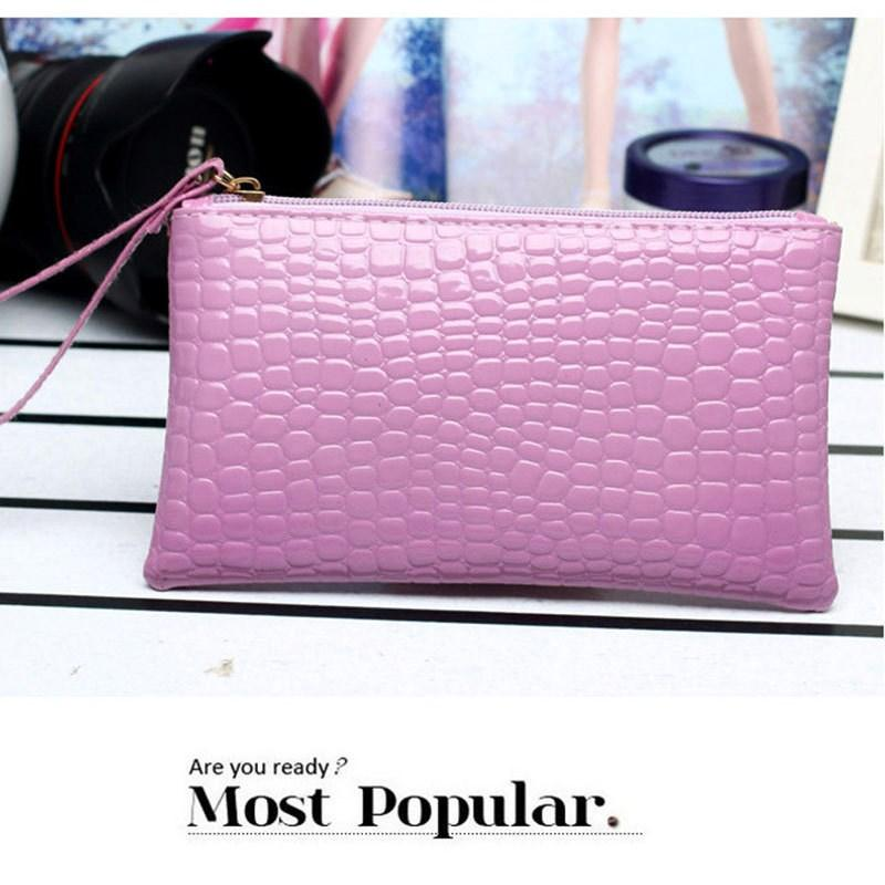 77681e98448 Womens Clutch. 53240 items found in Clutches. AMOG Luxury Fashion Crocodile  Leather Clutch Handbag Bag Coin Purse Wallet Phone Card Holder