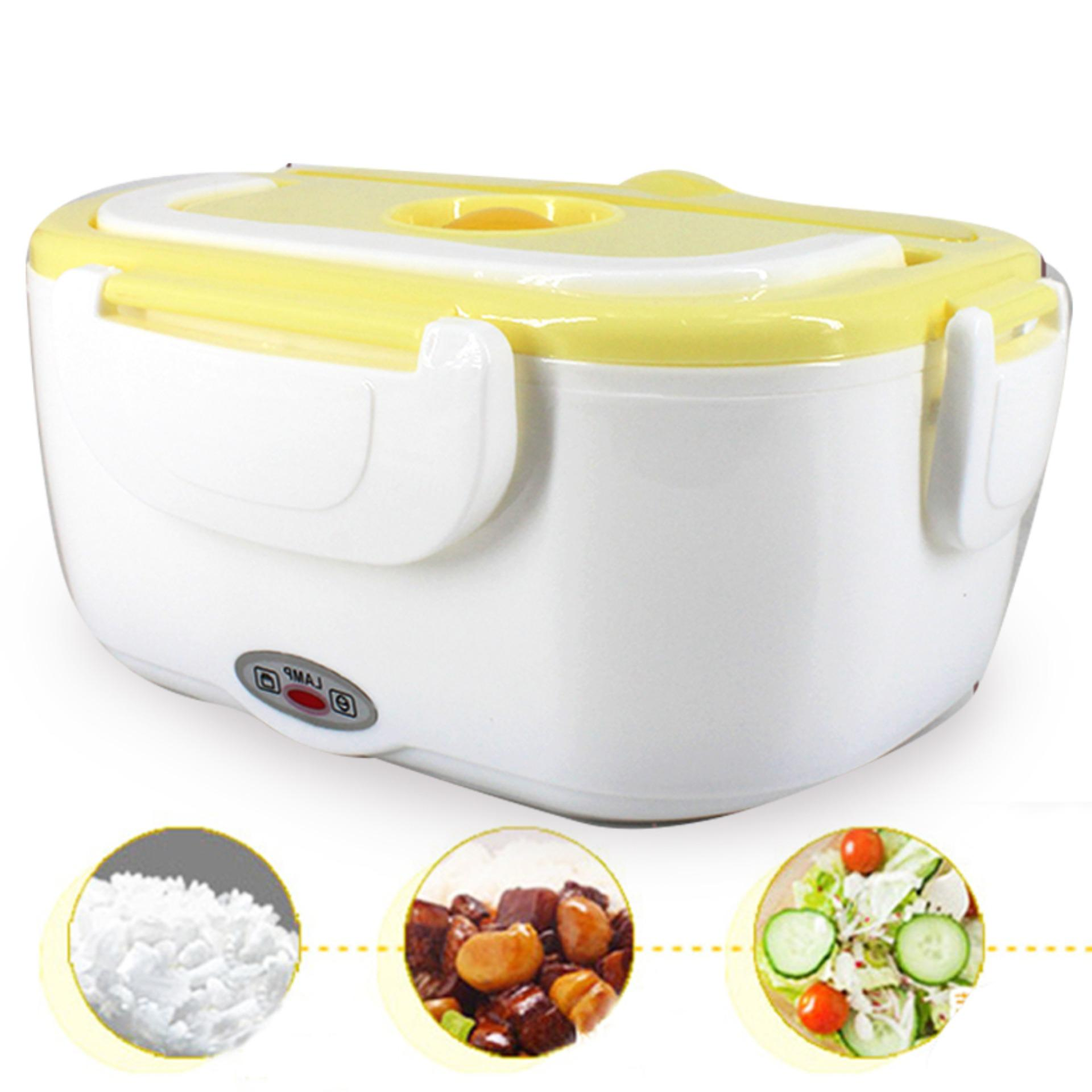 Md Portable Electric Lunch Box Food Container Food Warmer Container - 669 By Mega Deal.