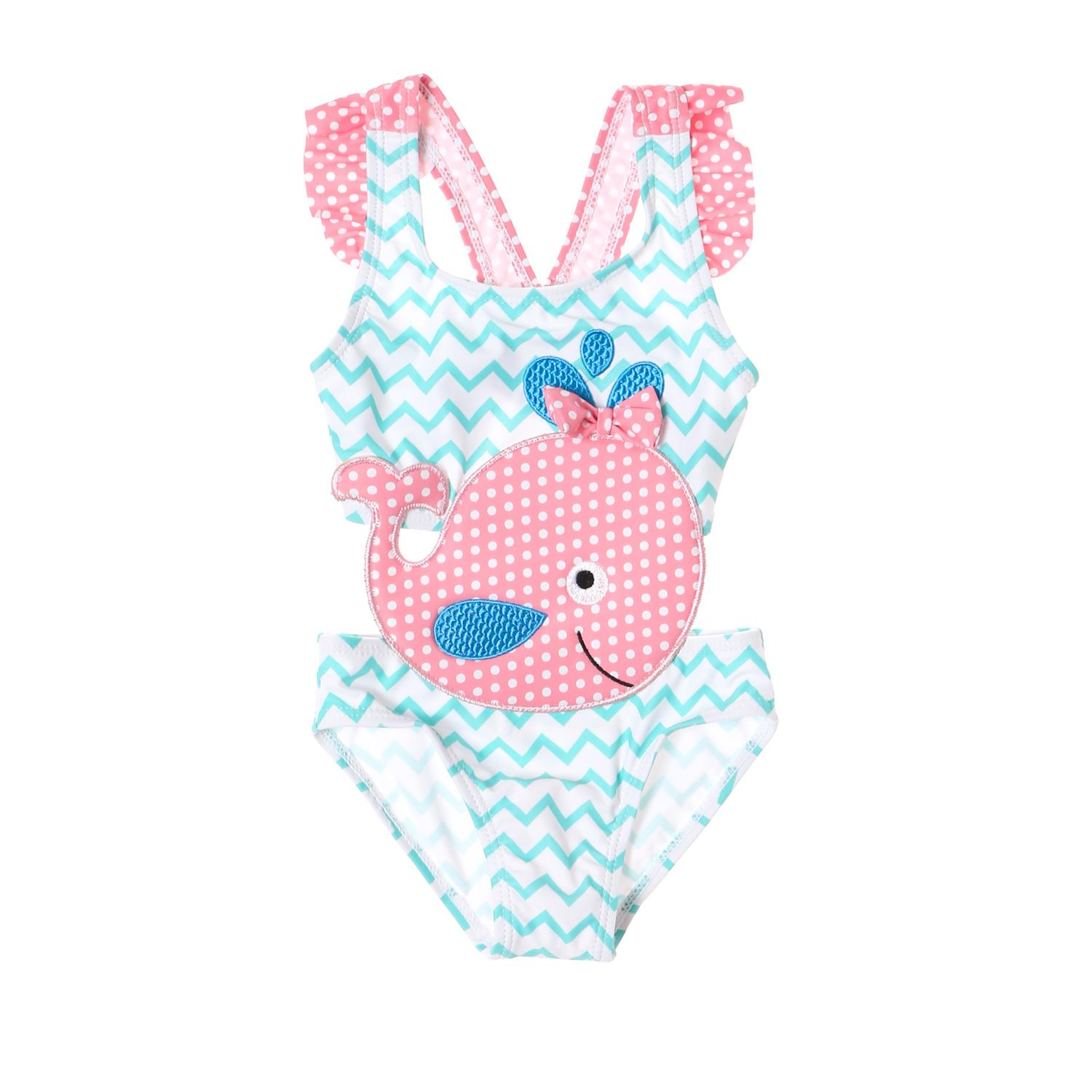 ca42ea1bf9a Sandbox Baby Girls Pink Whale One-piece Swimsuit in Multi-print