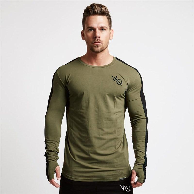 07ffb848499 NANSHA Men T Shirt Long Sleeve Patchwork O Neck T-shirt VQ 95% Cotton