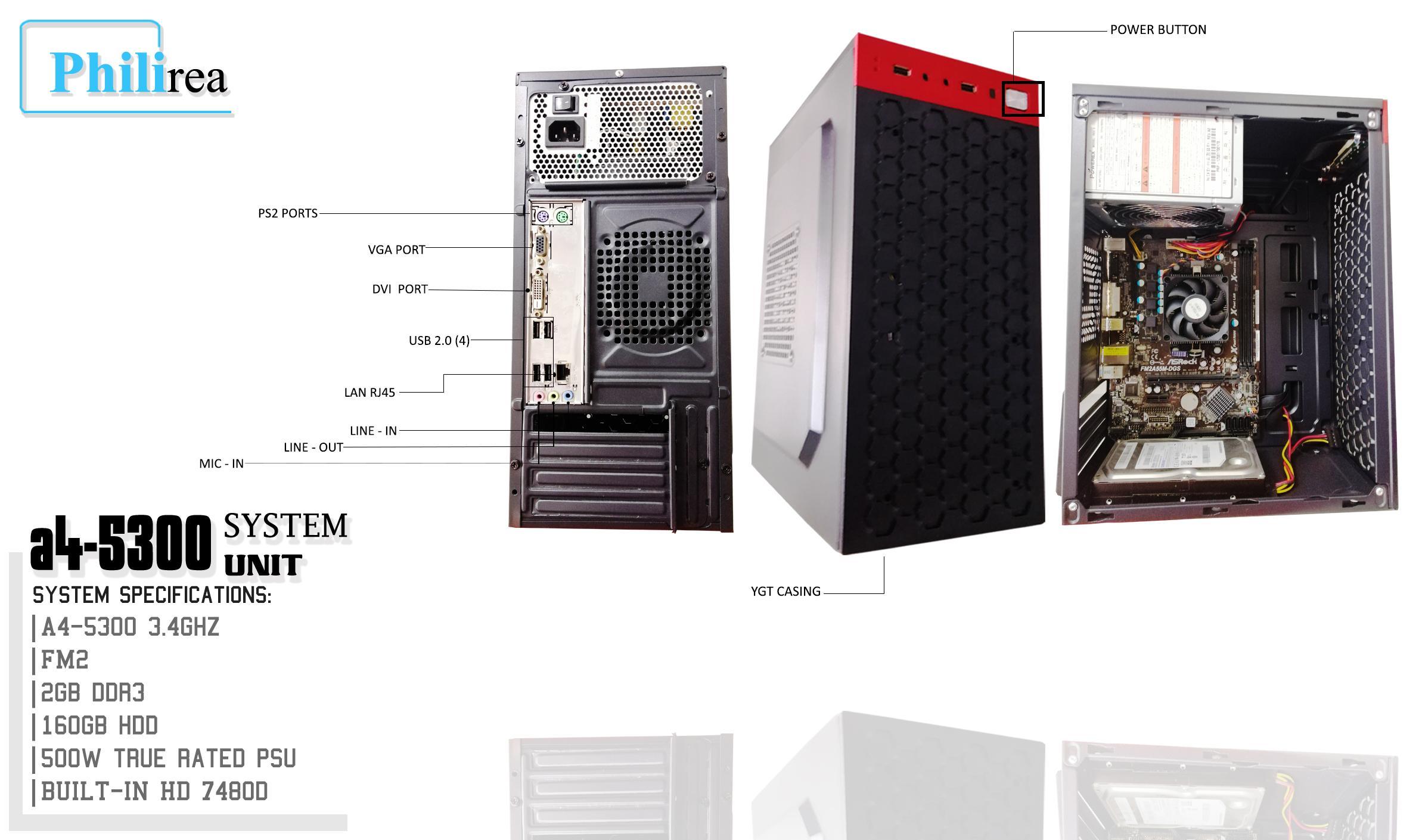 Refurbished gaming system unit AMD A4