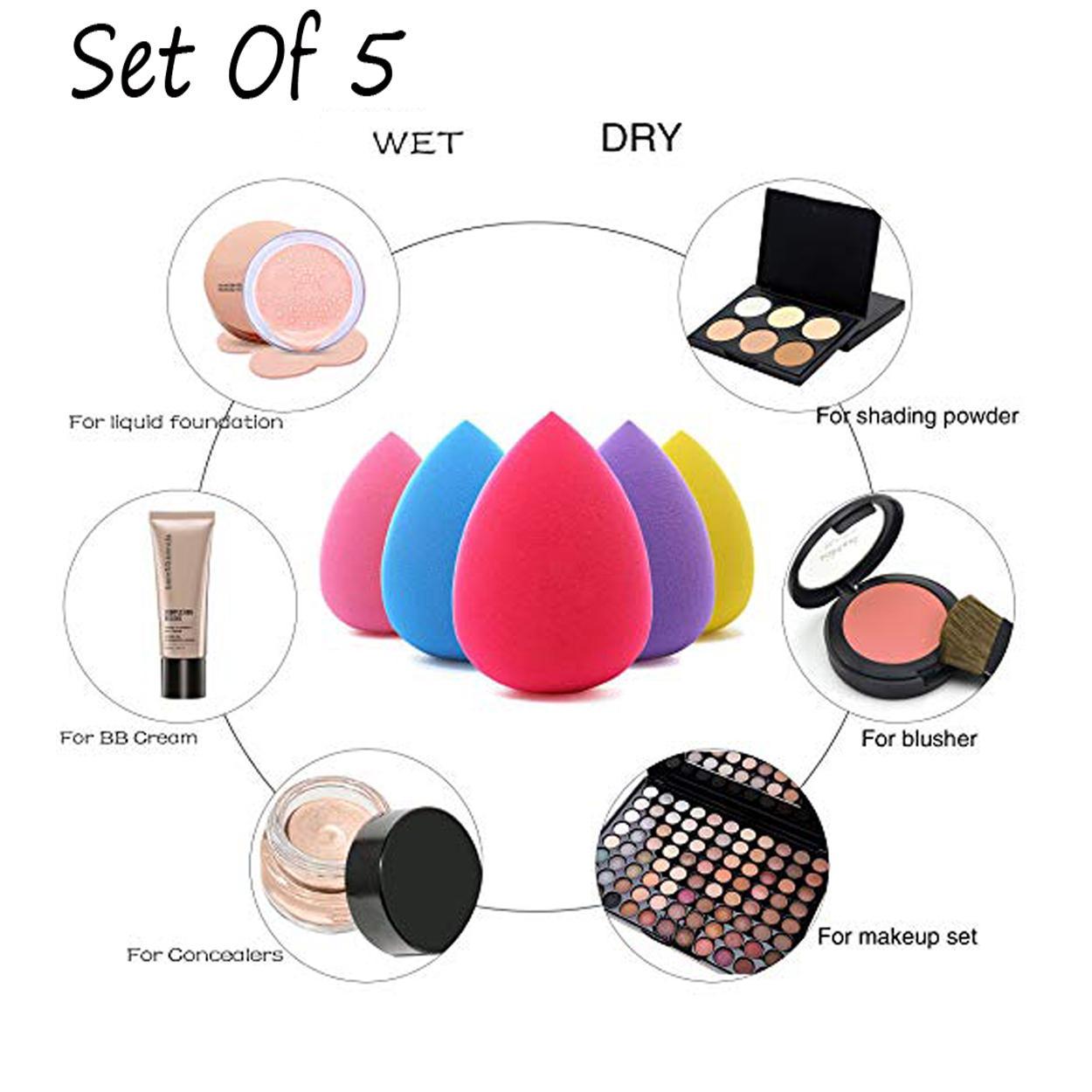 5 Pcs Foundation Beauty Blender Sponge Egg Shape Foam - Multicolor Philippines