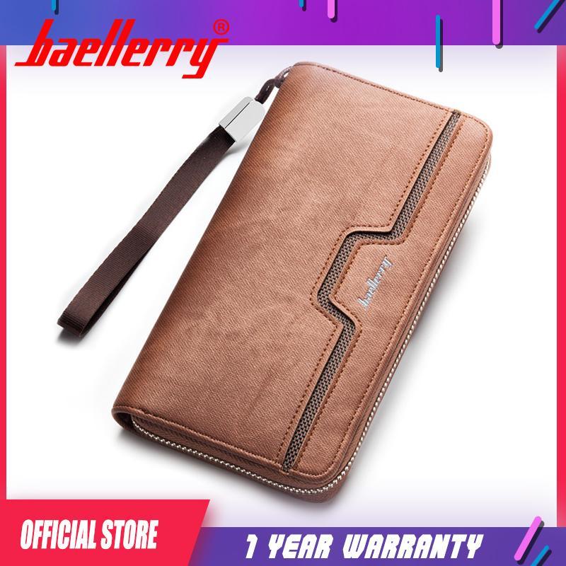 2a8de8028941 Baellerry Fashion Men PU Leather Organizer Long Wallet Money Coin Purse  Pocket Pochette Clutch Hand Bag