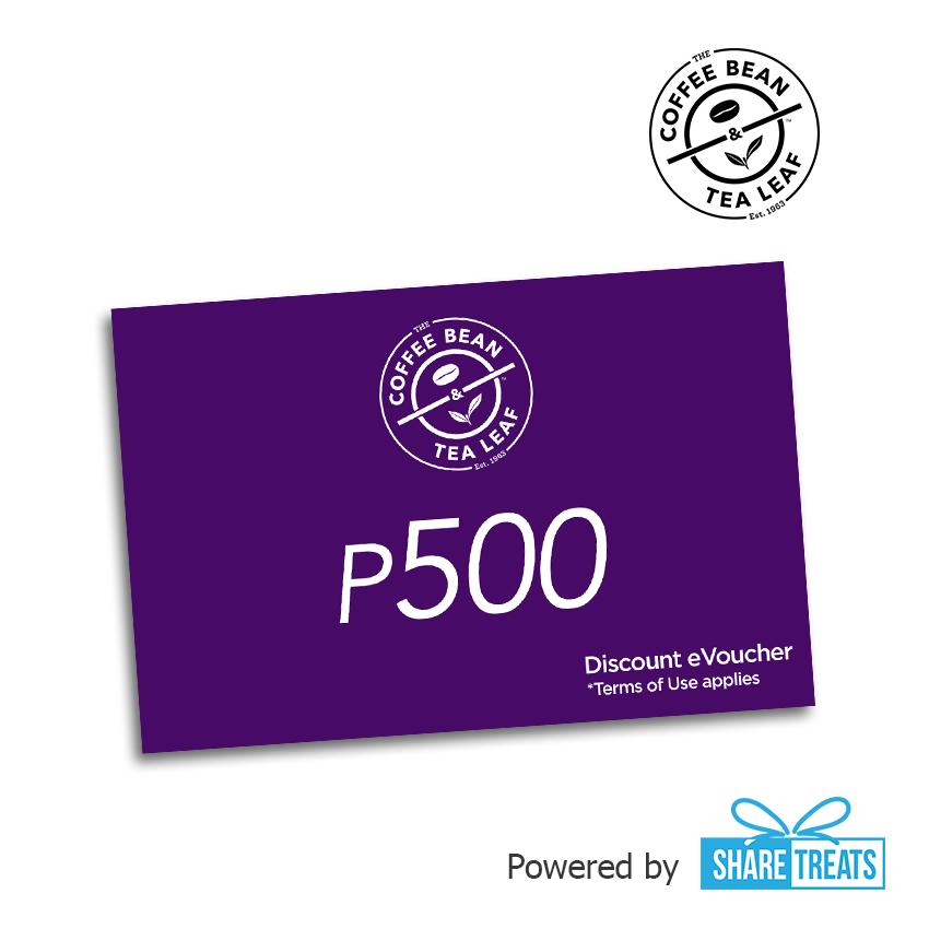Coffebean & Tealeaf P500 Worth (sms Evoucher) By Share Treats.