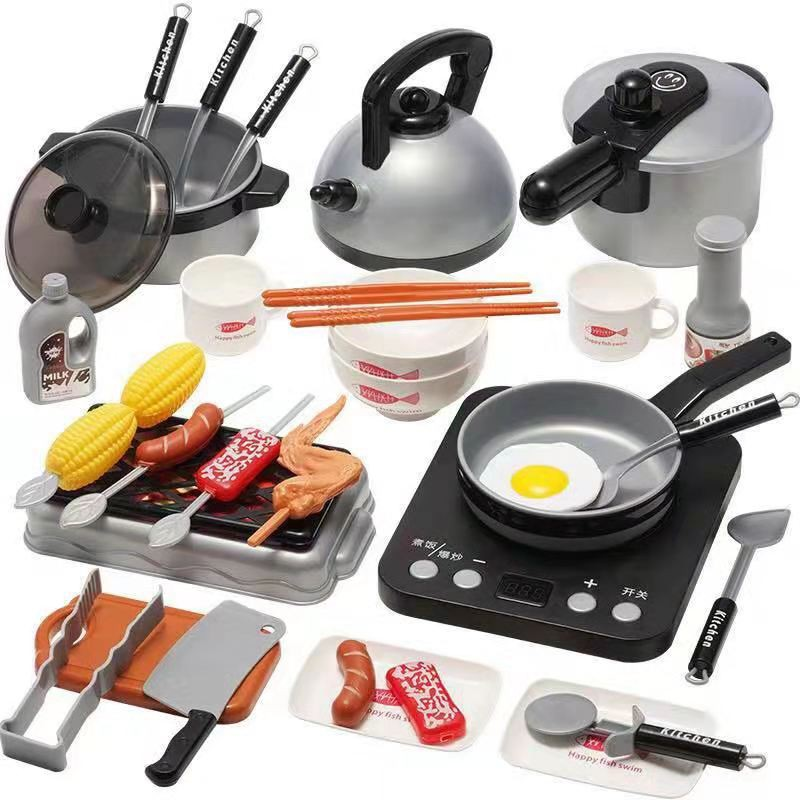 Kids Kitchen Toy Set 36 Pcs Home Kitchen Play Set Cooking Set Pretend Play Realistic Design Lazada Ph