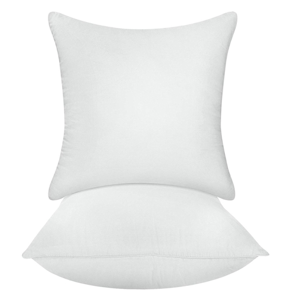 Bedding Throw Pillows Insert (Pack Of 2, White) - Bed and Couch Pillows - Indoor Decorative Pillows
