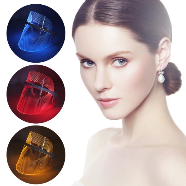 PangYa Tấm Chắn Làm Đẹp Trị Liệu Ánh Sáng LED 3 Màu Dụng Cụ Làm Đẹp Thiết Bị Làm Đẹp Có Đèn Led Trị Liệu Mặt SPA, Loại Bỏ Nếp Nhăn Chống Mụn