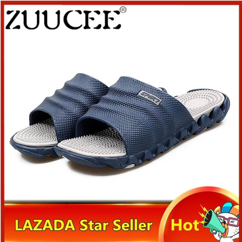 3ed7bc598318 ZUUCEE Casual Men Slippers Shoes Beach Shoes Massage health care Shoes Free  Shipping
