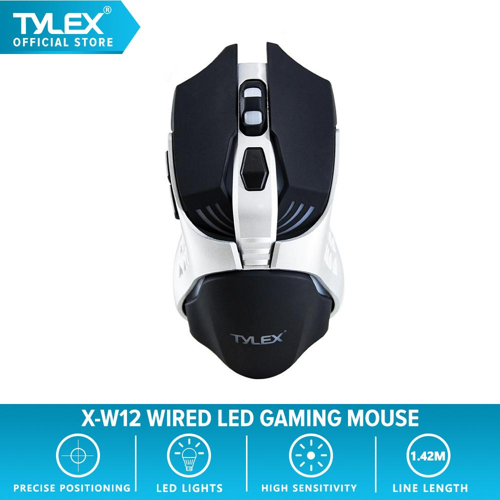 Tylex X-W12 High-Precision 3200DPI Wired LED Gaming Mouse (Silver/Black)
