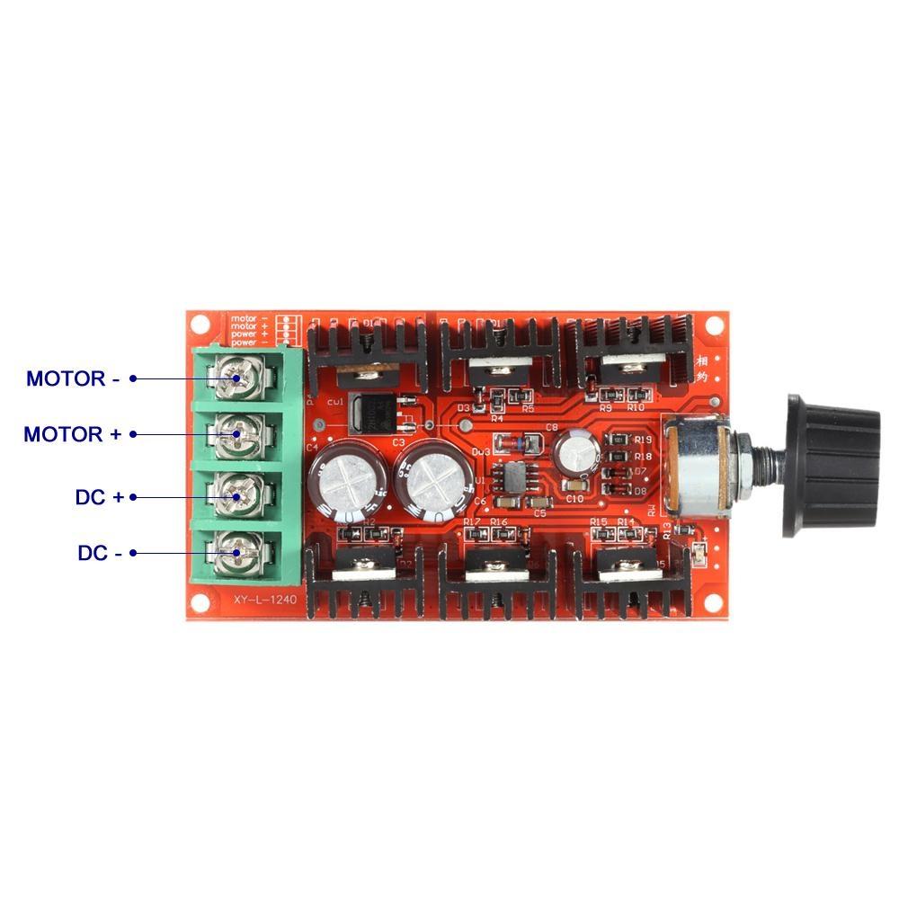 DC10-50V 40A Motor Speed Control PWM HHO RC Controller 12V 24V 36V 50V 2000W