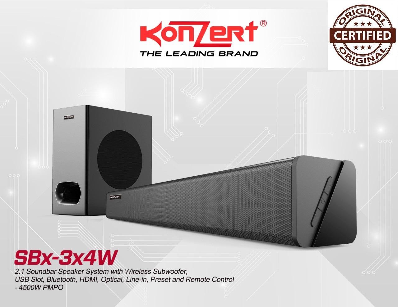 Konzert SBx-3x4W 2 1Channel Sound bar