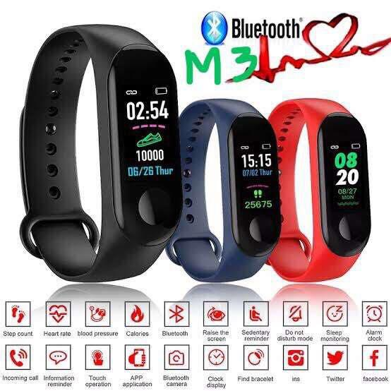 New M3 Bluetooth Smart Watch with Heart Rate and Blood Pressure monitor and  Sleep Tracker