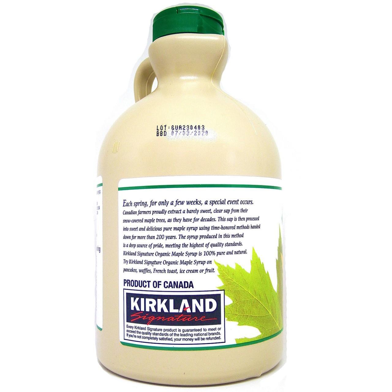 Kirkland Signature Organic Maple Syrup (1 liter)