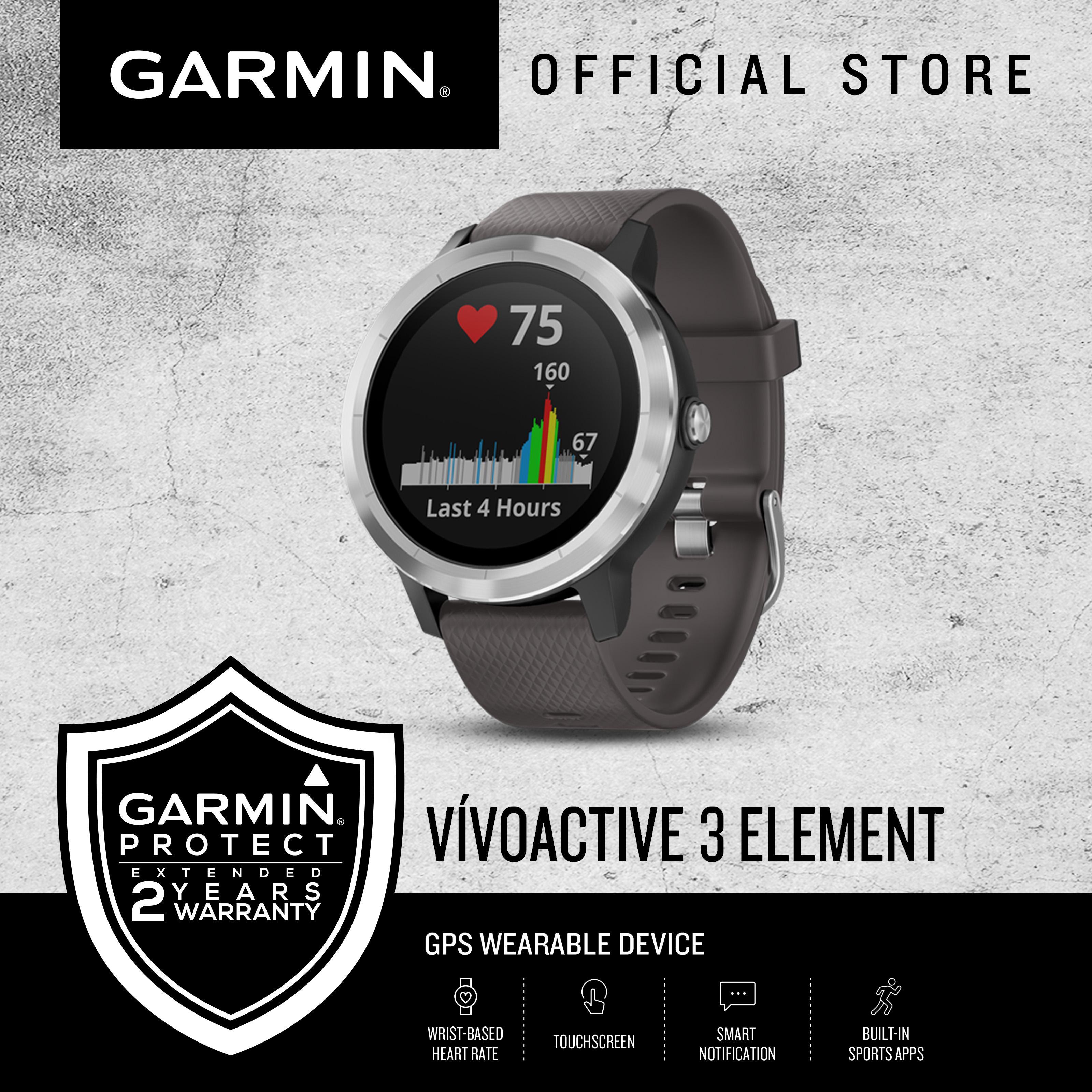 Garmin vívoactive® 3 Element (Grey) GPS Smartwatch with 2 Years Warranty