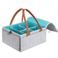 Large Diaper Caddy Organizer Baby Nursery Storage Basket With Zipper Lid And Leather Handle Baby Shower Gift Wipes Stacker Bin Holder