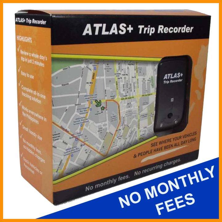 ATLAS+ Trip Recorder GPS Tracker wiith NO monthly fees for car, motorcyle,  truck, vehicle and personnel (no wiring needed)
