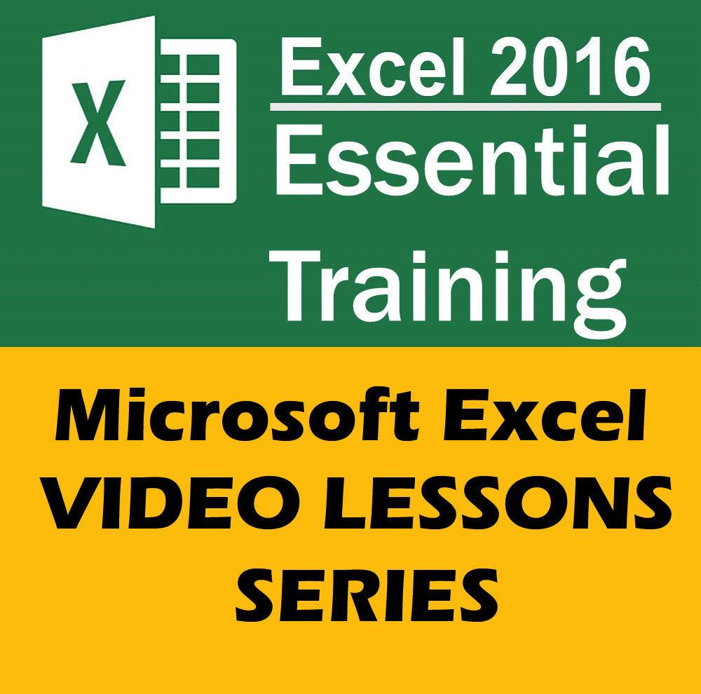 Excel 2016 Essential Training - Learn Excel Video Tutorials Lessons Series By Djshop15.
