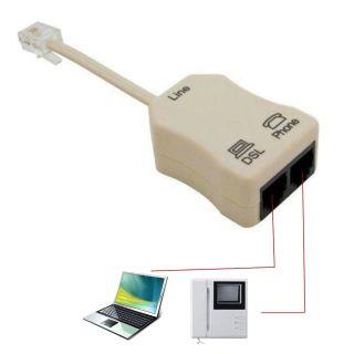 IDR7316 Bộ Chia Tín Hiệu Nối Tiếp Giao Diện RJ11 Tiện Dụng Bộ Tách Tín Hiệu Modem Bộ Lọc Mạng Modem ADSL, ADSL Tách thumbnail