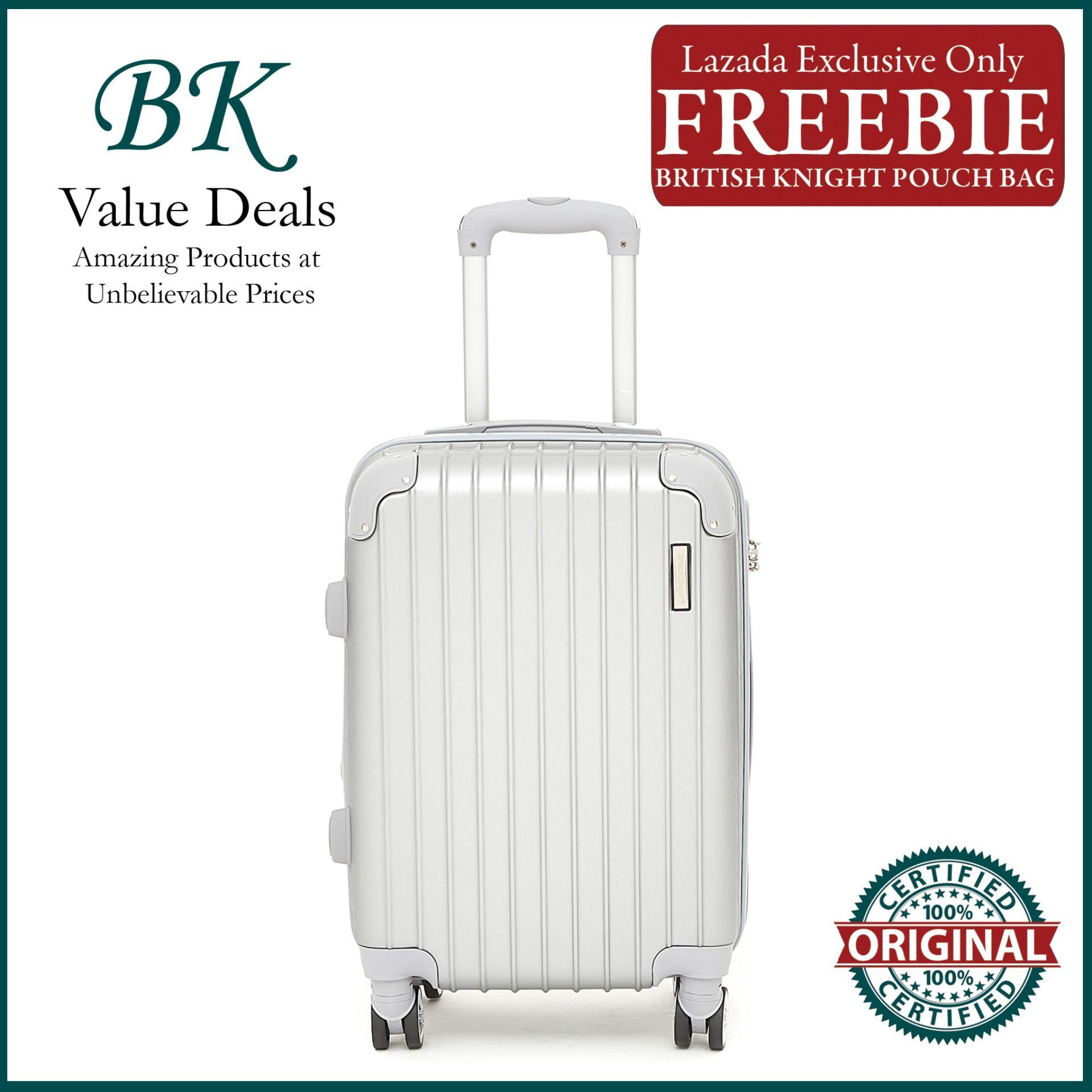3f1420992 British Knight BHS918ZTE Silver Small (20 Inch) Expandable Luggage with TSA  Lock, Anti