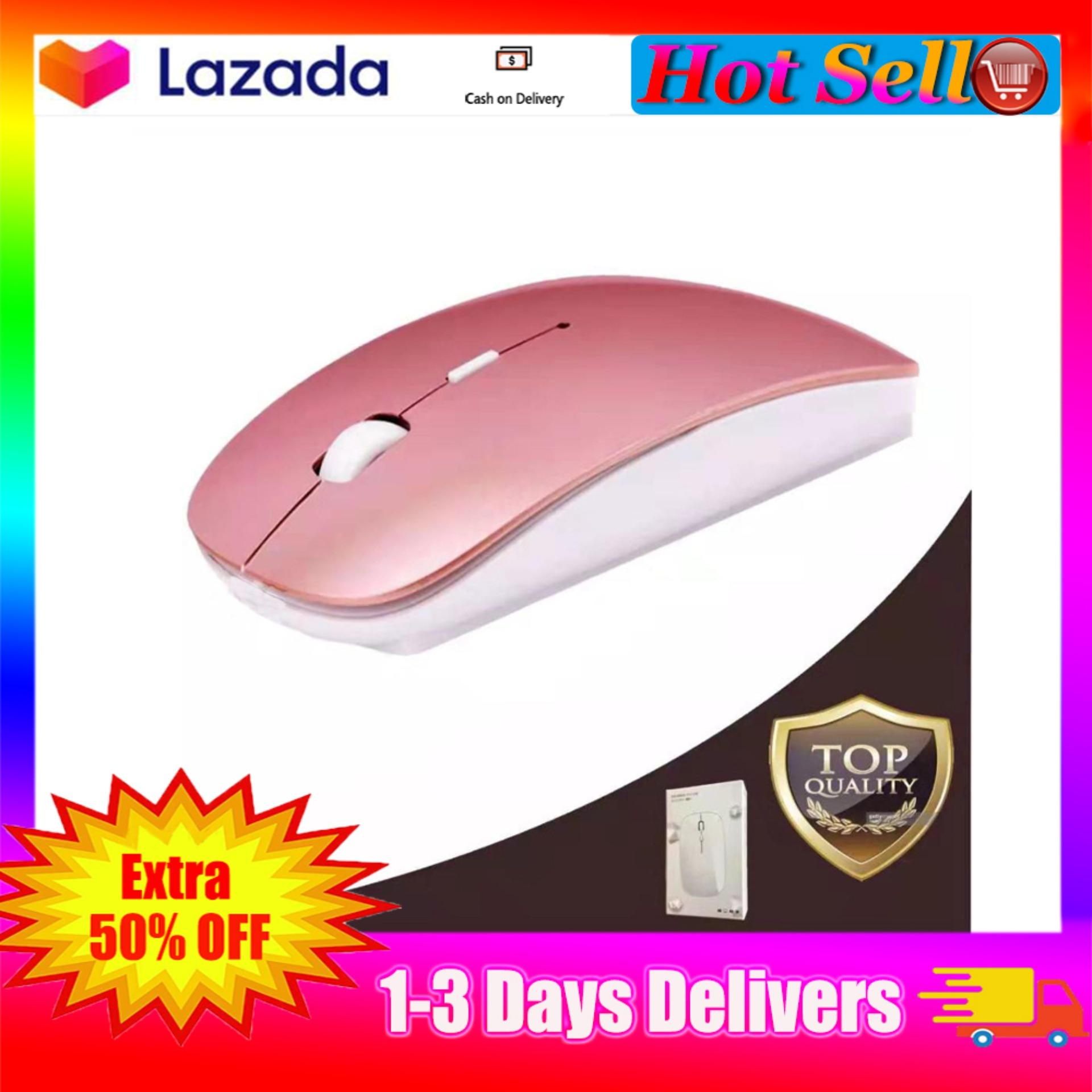 【Hot Sell】Ultra-Thin Curved Wireless Slim Optical Mouse Laser-Grade Optical  Sensor (Light and Portable) Gaming Mouse and Office Mouse Compatible -