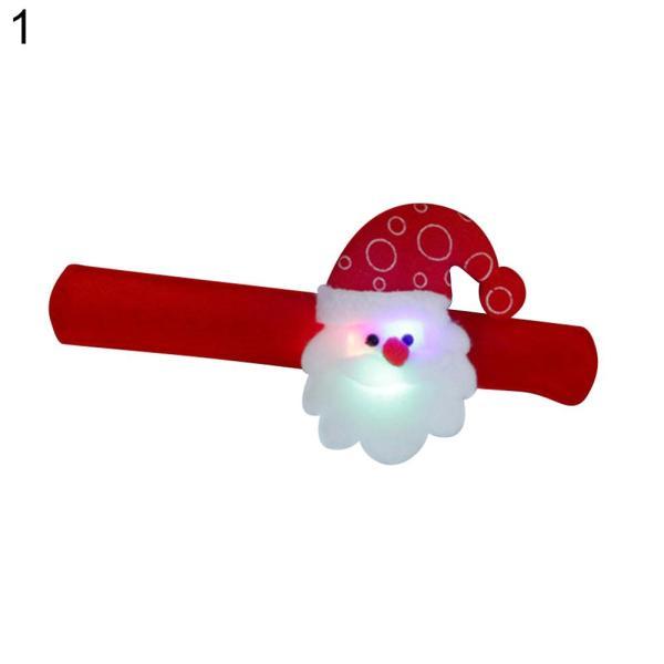 Bảng giá Dây Đeo Cổ Tay LED Người Tuyết/Nai Sừng Tấm/Gấu/Ông Già Noel Giáng Sinh, Vòng Đeo Tay Phát Sáng Có Thể Điều Chỉnh