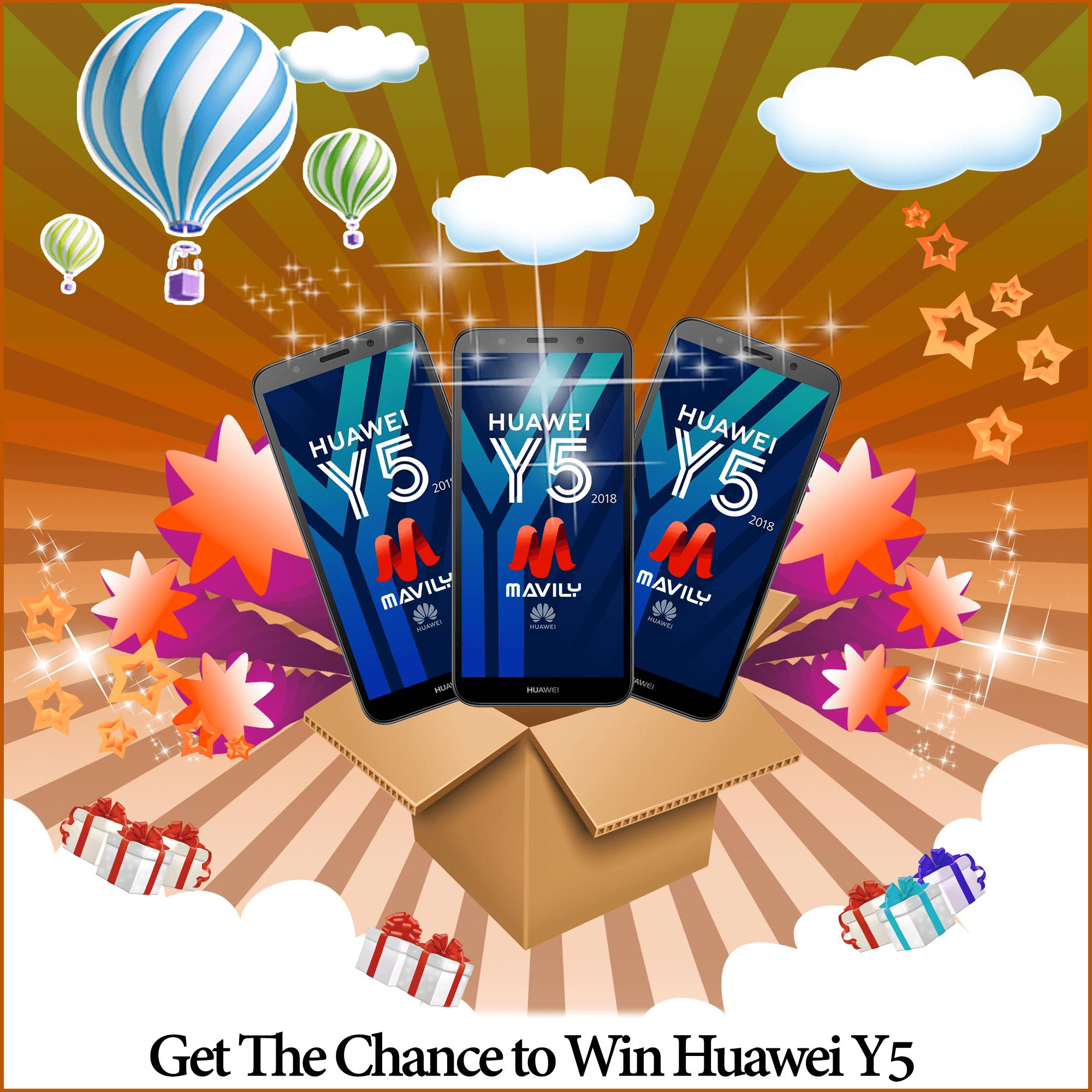 Mystery Box Get A Chance To Win Huawei Y201 By Mavily.com.