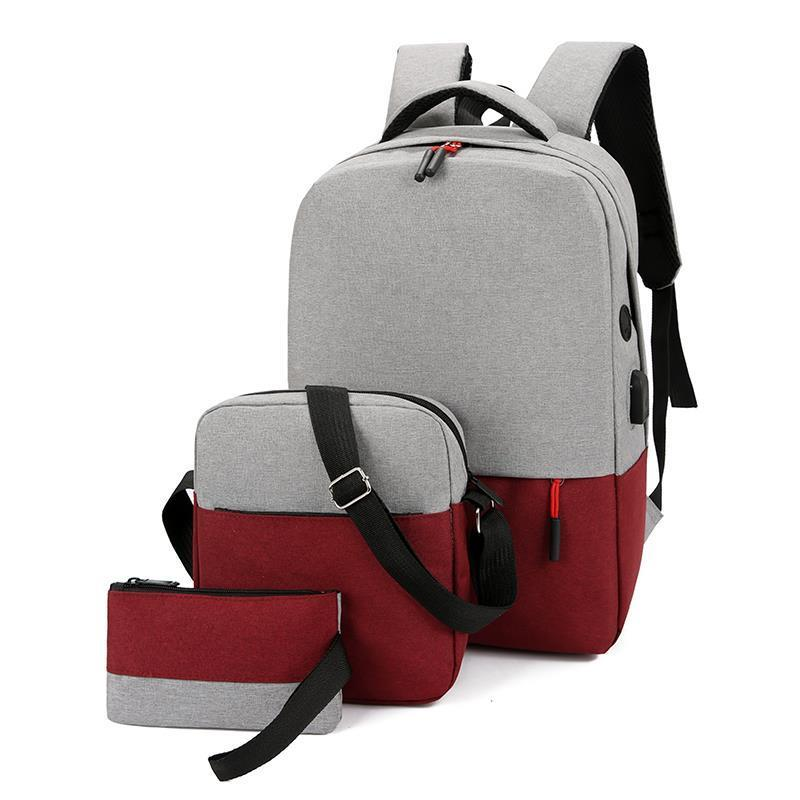 a860b3168d31 NEW TIME 3 in 1 New fashion light weight leisure nylon collage style  backpack set#