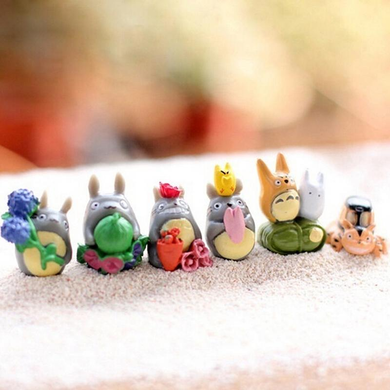 M&H12 pcs / Set My Neighbor Totoro Mini Figure DIY Moss Micro Landscape Gift Toys