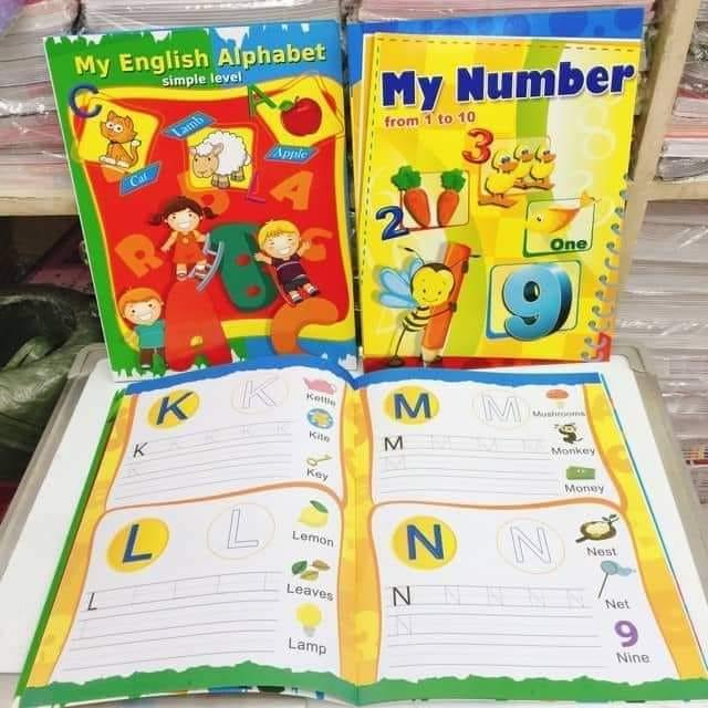 Simple Educational Alphabet And Numbers Home Workbook Activity Books Writing Book For Children Kids Toddlers (3-6 Years Old) By 969 Store.