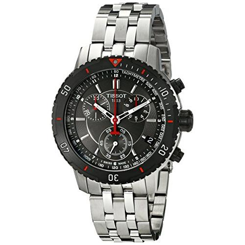535d1e097fb Tissot Men's T067.417.21.051.00 T-Sport Textured Dial Stainless Steel Watch
