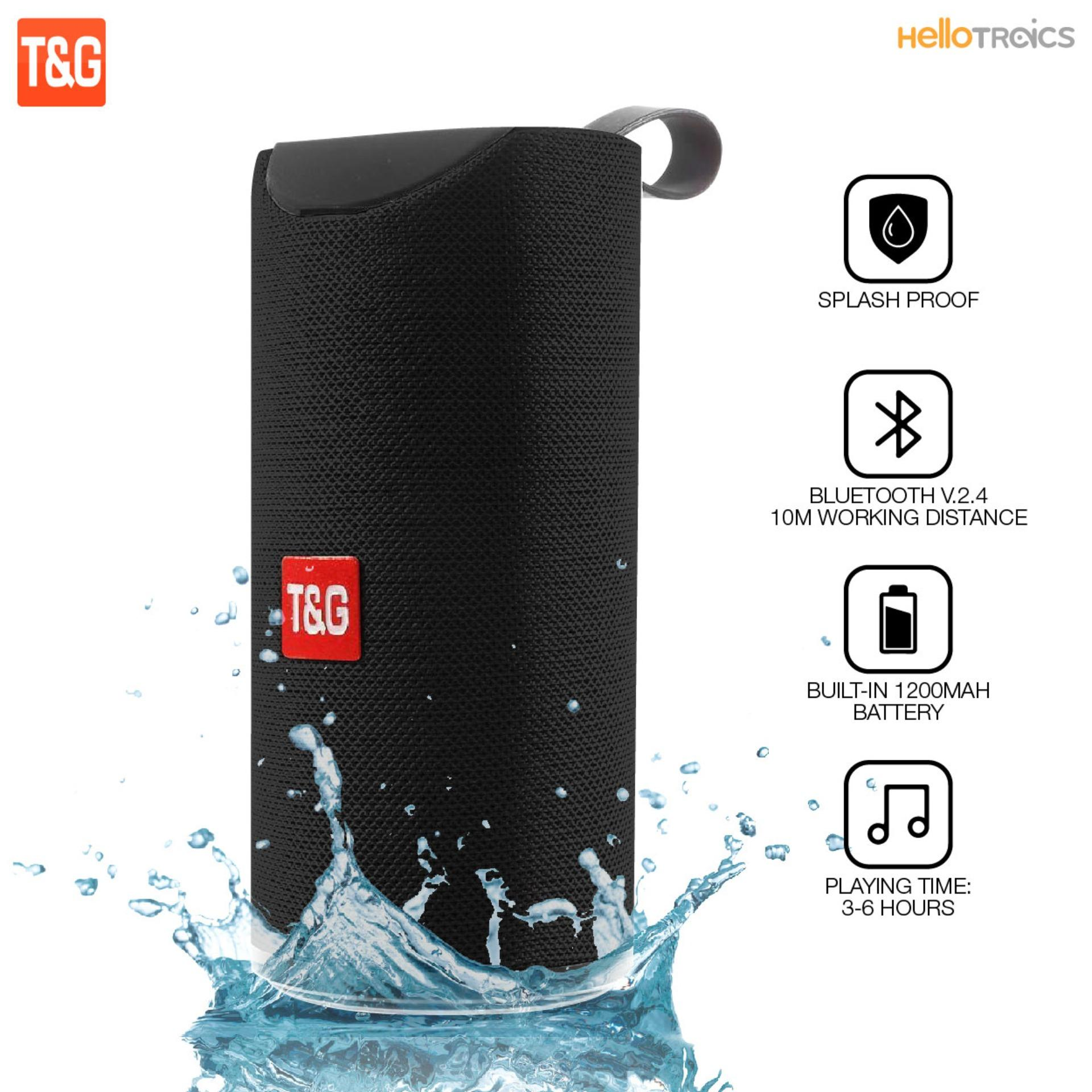 T&G TG113 Super Bass Splash proof Bluetooth Speaker with SD Card Slot and Aux