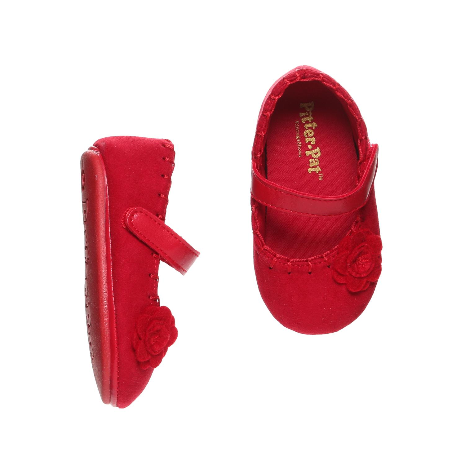 c653e052d9 Pitter-Pat Toddler Girls Flower Mary Jane Flats in Red