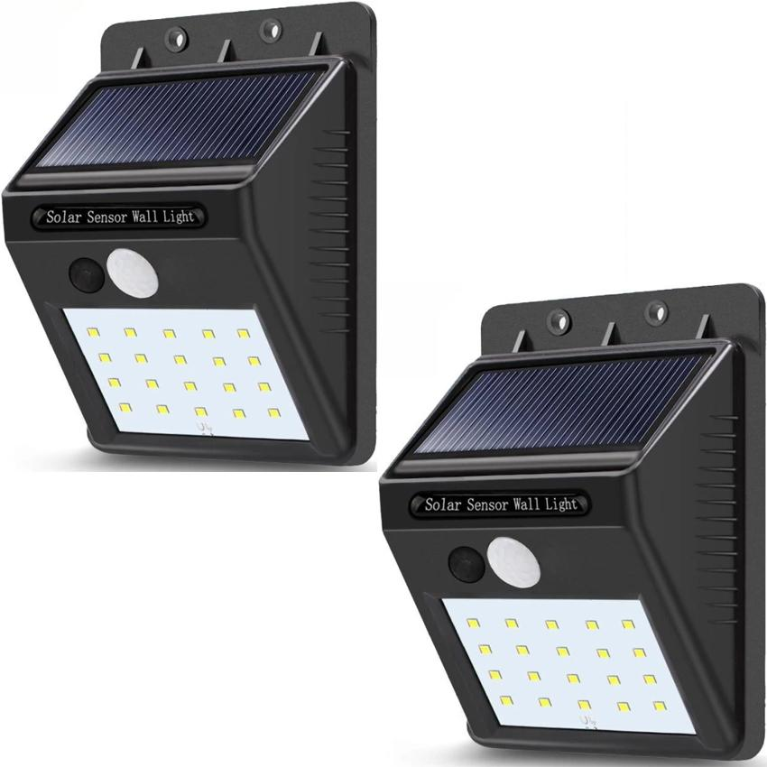 check out 438ef 5784e Buy 1 Take 1 Sensor Wall light 20 LED Outdoor Waterproof Rechargeable Solar  Power PIR Motion Garden Lamp