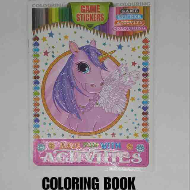 Unicorn Coloring Book Activity Book With Game Stickers By Hello Mr Shao.