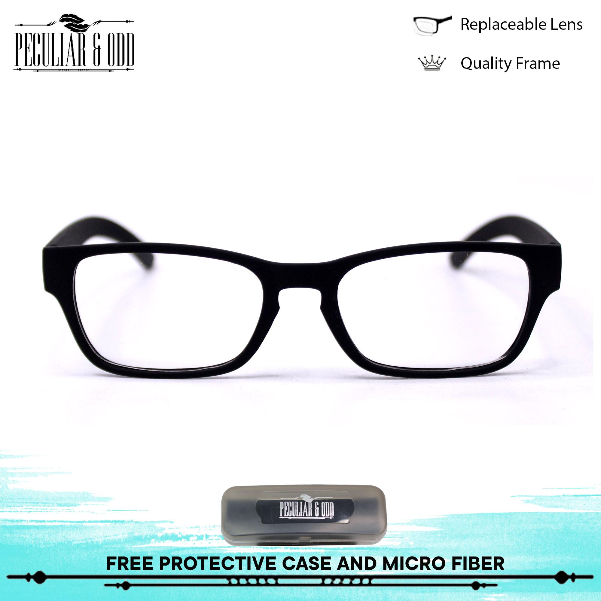 f43f87a9a0 Optical Rectangular Lightweight Eyeglass 2107 BlackClear Replaceable Lenses  Flexible Frame