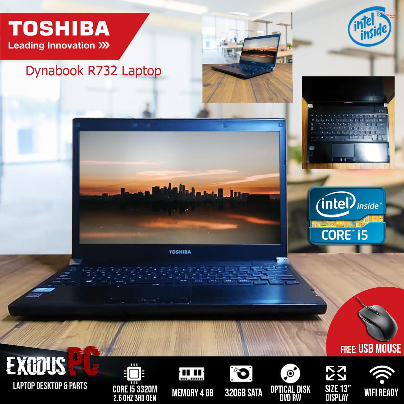 LAPTOP TOSHIBA DYNABOOK R732 i5-3320M (3rd Gen) 4GB 320GB with MOUSE