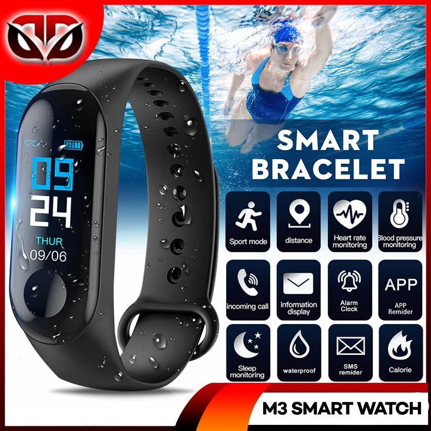 D&D M3 Smart Watch Blood Pressure Monitor Bracelet Heart Rate Monitor Band  Pedometer Sleep Monitoring Bluetooth Waterproof Fitness Tracker Calling