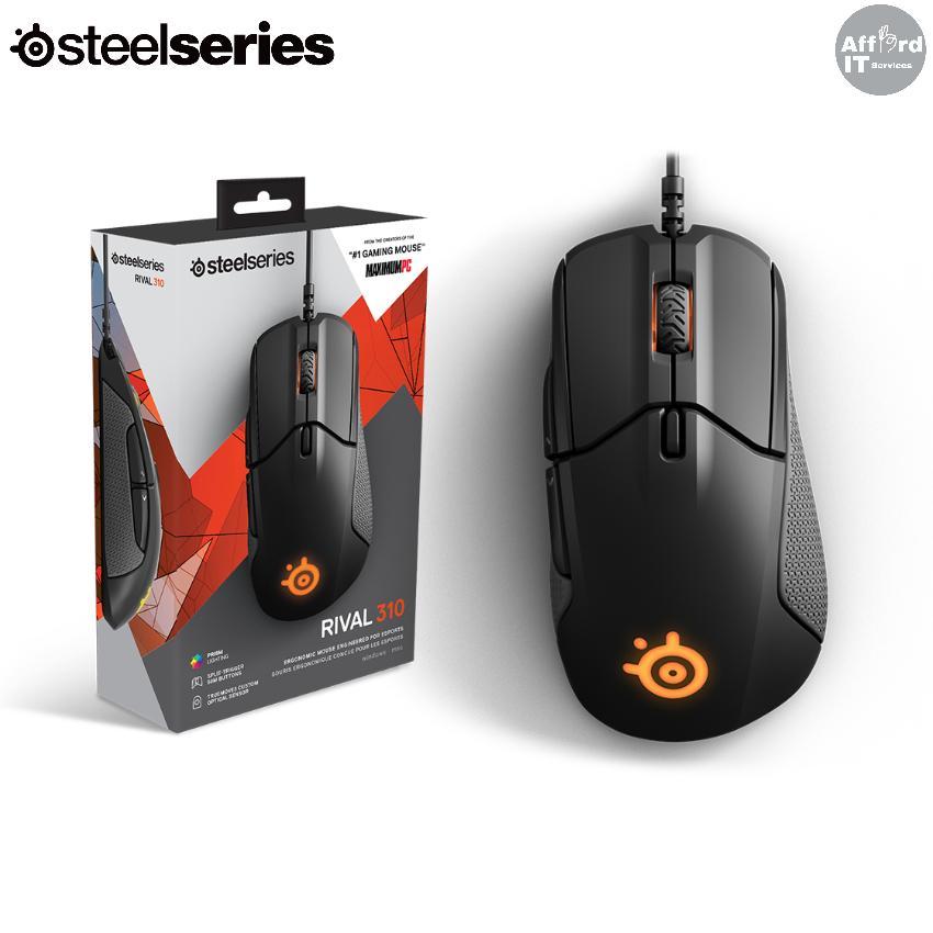 SteelSeries Rival 310 Gaming Mouse 12000 CPI TrueMove3 Optical Sensor RGB Light
